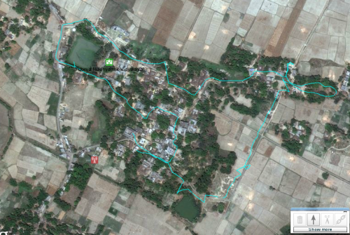 GPS Trace of Bhagmalpur